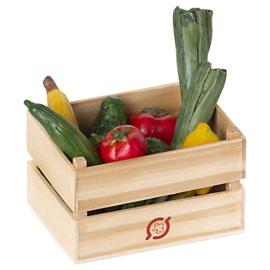 Maileg kistje met Groenten en Fruit, Veggies and fruits