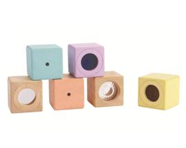 Plan Toys Blokken, Pastel Sensory Blocks