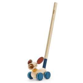 Plan Toys Duw- en Trek Puppy, Push and Pull Puppy