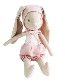 Alimrose Knuffel Konijn, Baby Girl Bunny in Bonnet, 26 cm