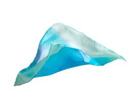 Sarah's Silks Speelzijde, Enchanted Playsilk, Water/Zee, 53 x 53 cm