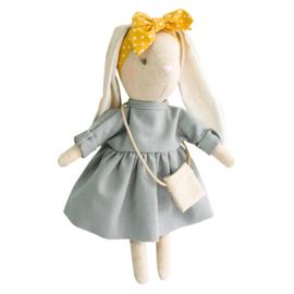 Alimrose Knuffel Konijn, Mini Sofia Bunny Grey, 27 cm