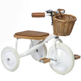 Banwood Trike Driewieler - white - met duwstang en mandje