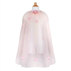 Prinsessen Cape met rozenblaadjes, Golden Rose Princess Cape, 3-4 jaar