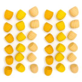 Grapat Mandala Bijenkorven Geel, 36 stuks