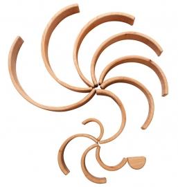 Grimm's houten Regenboog 12-delig, Naturel