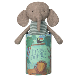 Maileg Jungle Friends Elephant, knuffel Olifant in koker