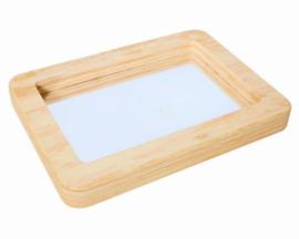 TickiT Spiegel Tray, met zachte houtlook rand