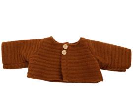 Olli Ella Vestje voor Dinkum Doll - Kastanje bruin