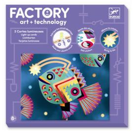 Djeco Factory Elektro Art Kaarten, Diepzee, 8+