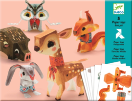 Djeco Knutselset Bosdieren van papier, 7+