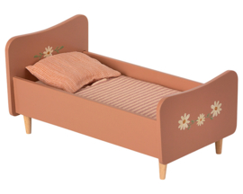 Maileg houten bed, Wooden Bed Mini - Roze, 26 cm