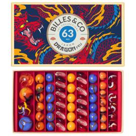 Billes & Co Knikkers in doosje, Draak/Dragon Feu, 63 stuks