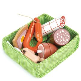 Mandje met vlees - Tender Leaf Toys
