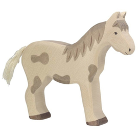 Holztiger Houten paard wit