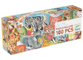 Djeco Puzzel 'Het Koningsfeest', 100 st, 97x33 cm