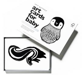 Wee Gallery Kijkkaarten, Baby Art Cards ZW/W dieren