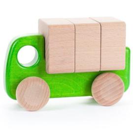 Bajo Houten vrachtwagen, groen