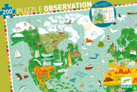 Djeco Ontdek Puzzel 'Wereldreis', 200 st, 61x38 cm