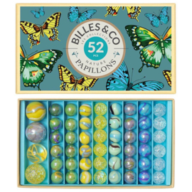 Billes & Co Knikkers in doosje, Papillons/Vlinders, 52 stuks