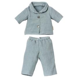 Maileg Pyjama voor Teddy Dad, blauw, 25cm