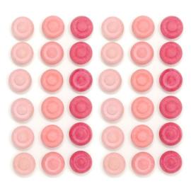 Grapat Mandala Bloemen Roze, 36 stuks