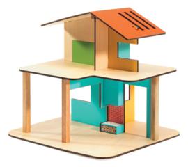 Djeco Houten Poppenhuis, Modern House