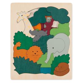 Hape / George Luck Houten Puzzel 'African Animals', 36-delig, 6+