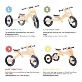 Trybike Wood 4-in-1 loopfiets Oranje/Zwart