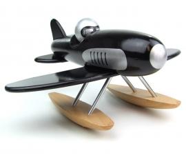 Vilac Houten Watervliegtuig 'black Seaplane', Zwart