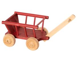 Maileg Houten Bolderkar, Wagon Micro, Rood