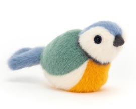 Jellycat Knuffel Vogel Pimpelmees 10cm, Birdling Blue Tit