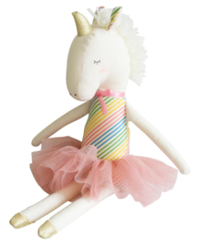 Alimrose Knuffel Eenhoorn, Yvette Unicorn, Rainbow, 43 cm