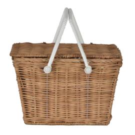 Olli Ella piki Basket picknickmandje Naturel