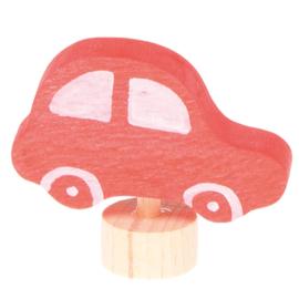 Grimm's Decoratiefiguur / Steker Rode Auto