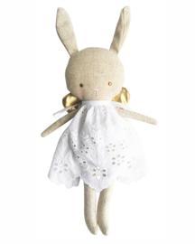 Alimrose Knuffel Konijn, Linen Baby Angel Bunny Gold, 24 cm
