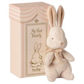 Knuffel konijn in doosje, My First Bunny, Roze