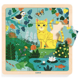 Djeco Houten puzzel 16 stukjes, Lily