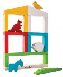 Plan Toys Speelset Dierentuin, Build a Zoo