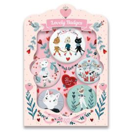 Djeco Button set, Lovely Badges, Poezen