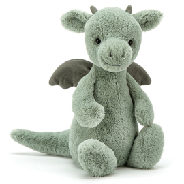 Jellycat Knuffel Draak 31cm, Bashful Dragon Medium