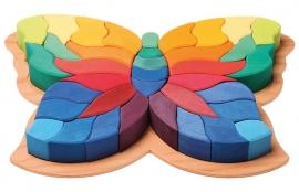 Grimm's houten puzzel/blokkenset Vlinder