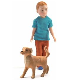 Djeco Poppenhuispop, Xavier met hond