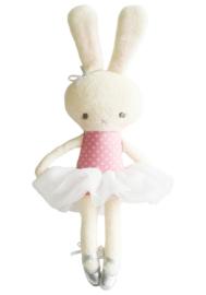 Alimrose Knuffel Konijn Hannah Ballerina Pink Ivory, 30 cm