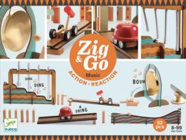 Djeco Zig & Go, Actie-Reactie-Baan, Muziek, 52-delig