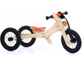 Trybike Wood 4-in-1 loopfiets Oranje/Zwart