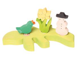 Grimm's Decoratiefiguur / Steker Zingende Vogel