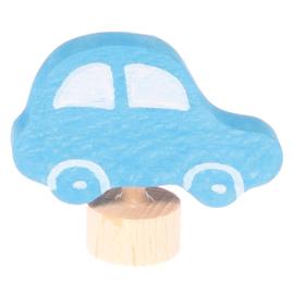 Grimm's Decoratiefiguur / Steker Blauwe Auto
