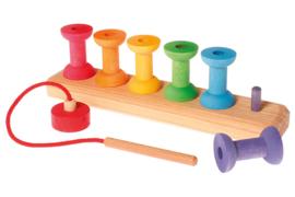 Grimm's houten Rijgspel met klosjes