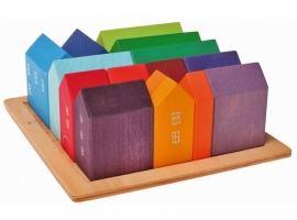 Grimm's houten blokkenset Huisjes